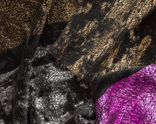 Printed boiled wool fabrics