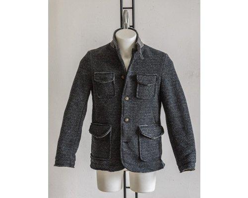 Boiled wool men's jacket