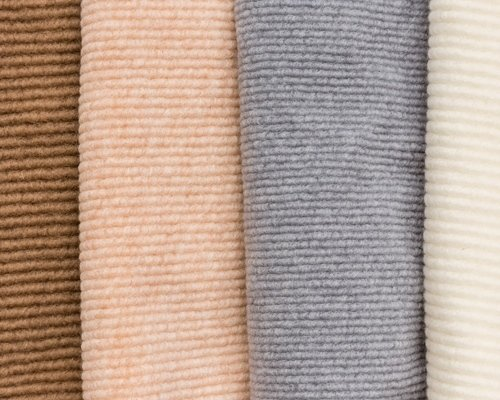Ribbed fabric colours