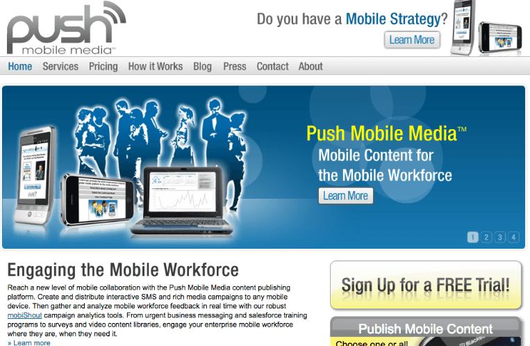 Beginning of PUSH Mobile Media