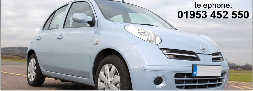 For car hire in Attleborough, Norfolk  call 01953 452 550