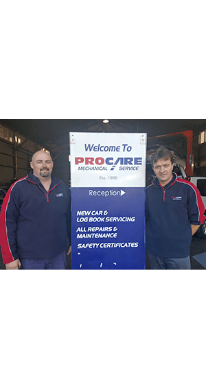 pro care mechanical service two guys standing