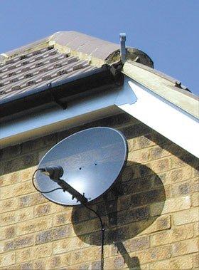 Satellite systems - West Drayton, Middlesex -  Sat-UK Net Ltd - Satellite-Dish-on-Wall