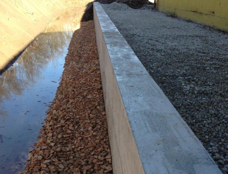 muretto in cemento