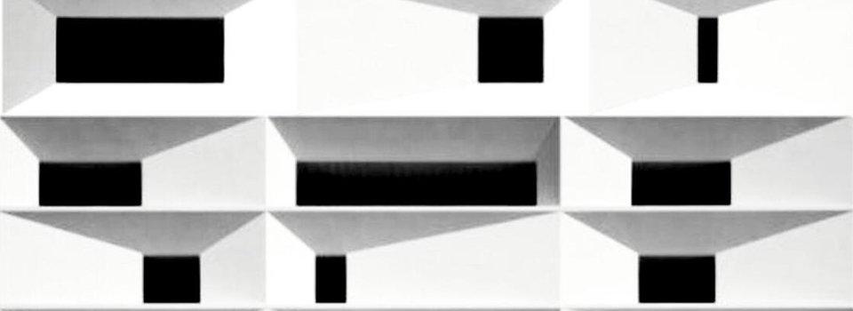 Immagine di architettura astratta cubica