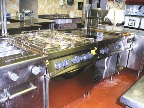 attrezzature da cucina, attrezzature di acciaio inox per l'industria alimentare