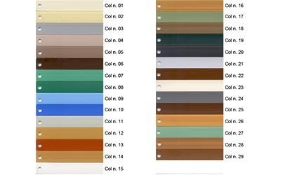 PVC shutter colours