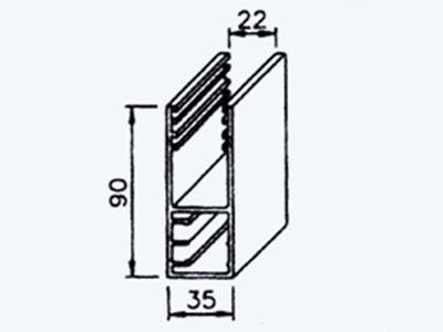 extruded aluminum rail