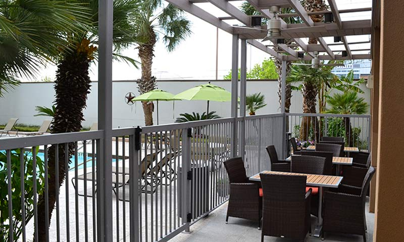 Outdoor Dining at Houston NRG Center Hotel