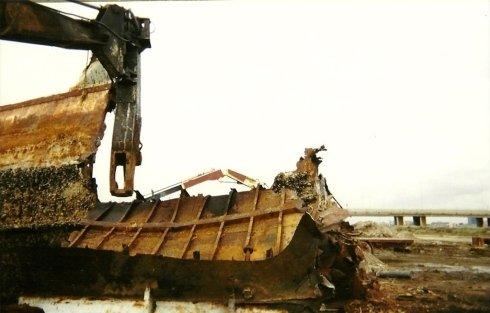 demolizione vecchi barca