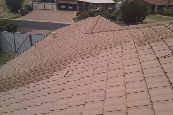 Aged Roof Tiles Before