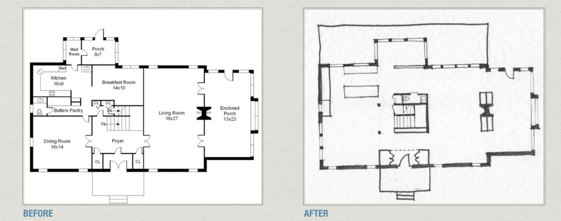 In This Original Plan And Sketch Of A Typical Center Hall Colonial Plan, I  Show A Quick Concept Of How This Idea Can Be Achieved