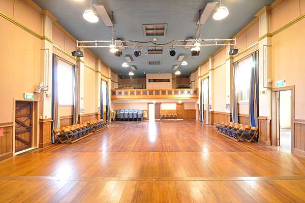 Interior of dance hall