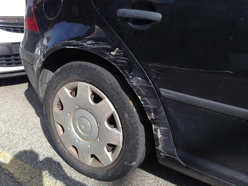 carrozzeria posteriore dopo un incidente