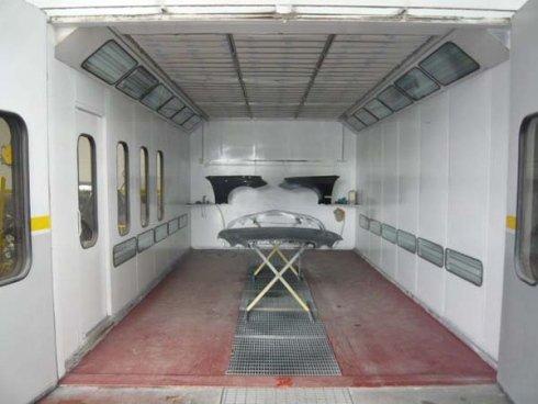 Camera per verniciare gli auto