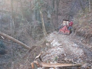 trattore per disboscamento boschi