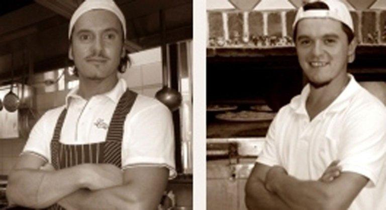 Chef Alessandro e Davide il pizzaiolo