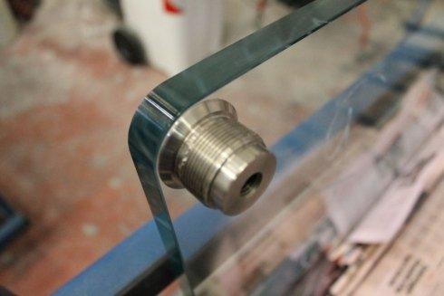 Inserto in acciaio con Incollaggio a raggi UV