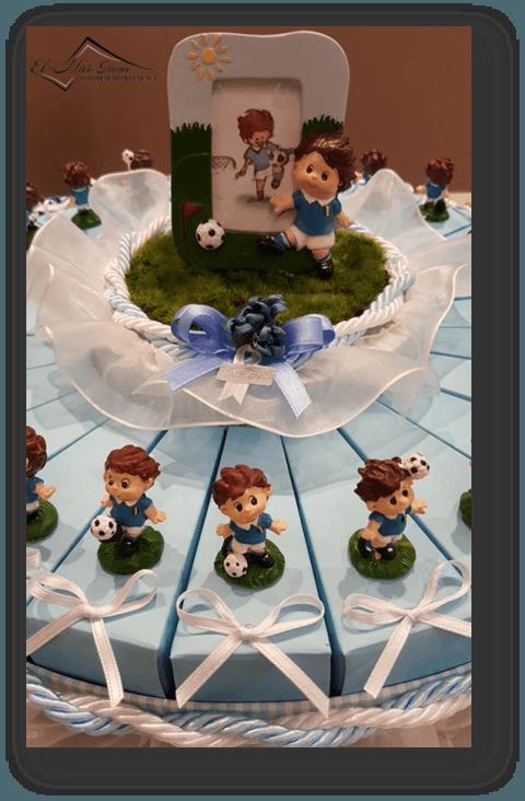 torta confetti battesimo