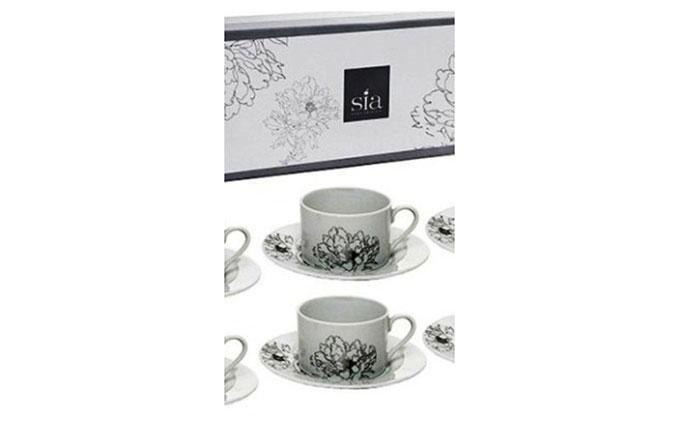 Flower tea cups Sia Home Fashion