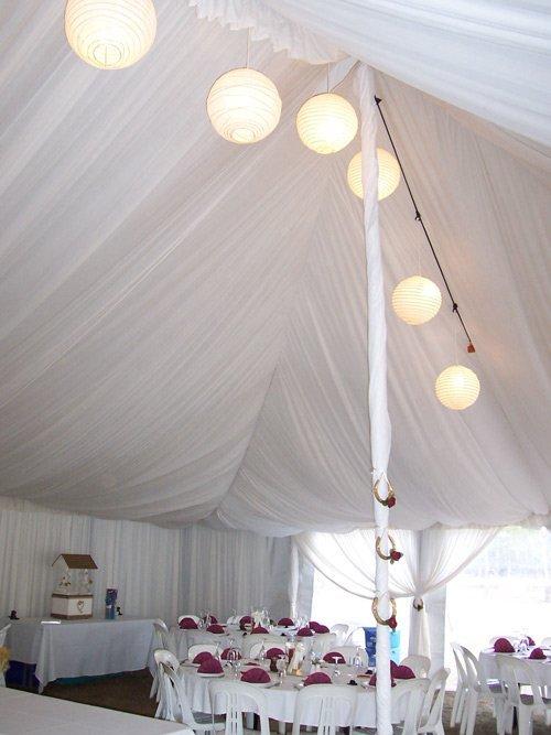 Lights during a wedding