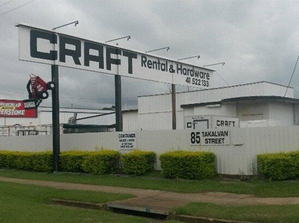 craft rental and hardware takalvan location