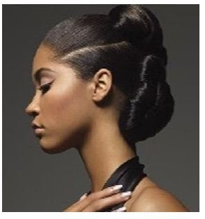 Dark skinned model