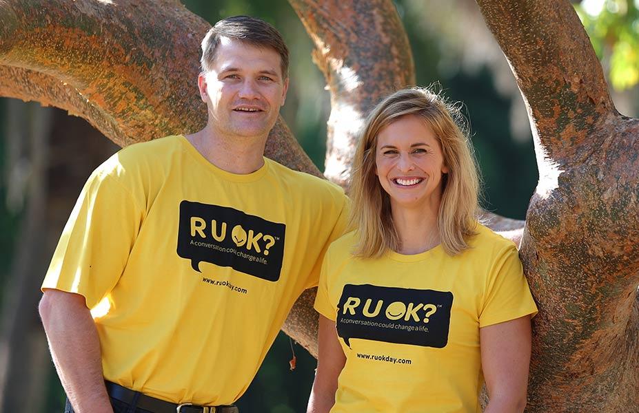 Libby Trickett and Ben Dune RUOK Ambassador