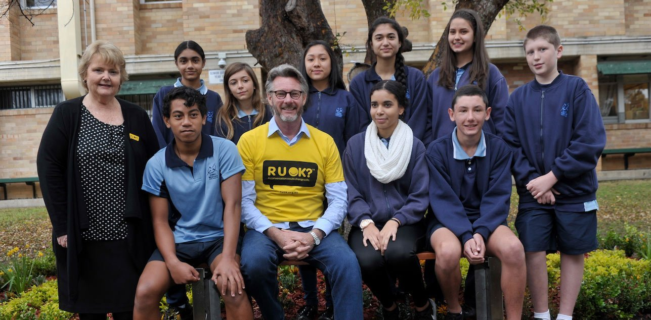 Barry Du Bois R U OK? Ambassador with secondary school students