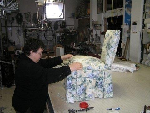 rivestimento in tessuto per sedie, rivestimento imbottito