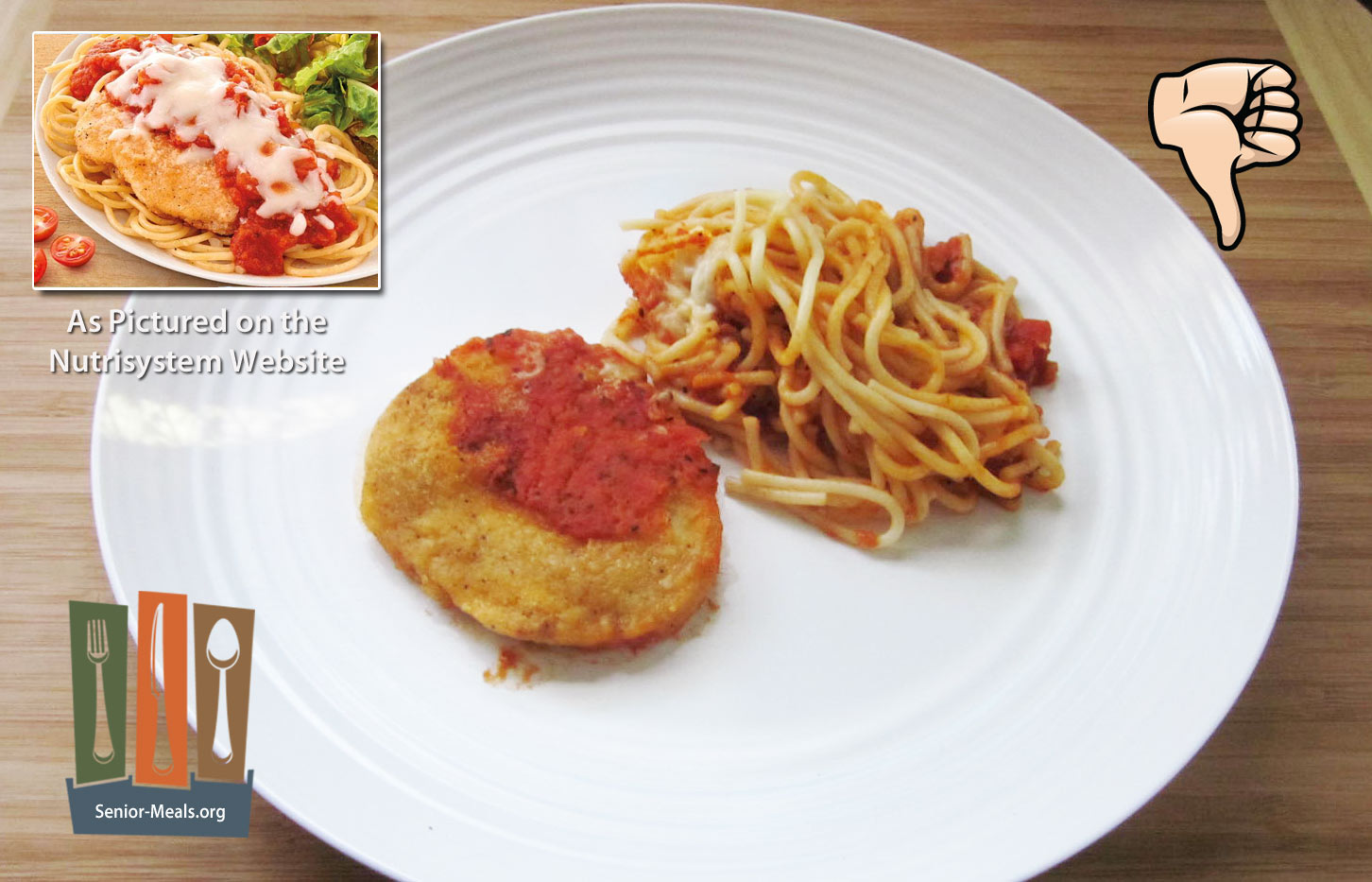 Nutrisystem review of their senior weight loss diet delivery service chicken breast was thinnest one we have ever seen really like 18 of an inch the breading was thicker you can do better with a frozen dinner from solutioingenieria Image collections