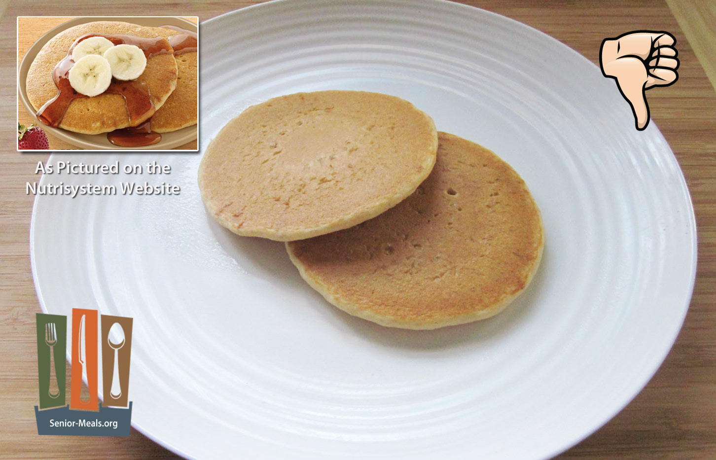 Nutrisystem review of their senior weight loss diet delivery service homestyle pancakes these are nothing you cant buy at the supermarket and reheat yourself the only difference is the money you would be saving solutioingenieria Gallery