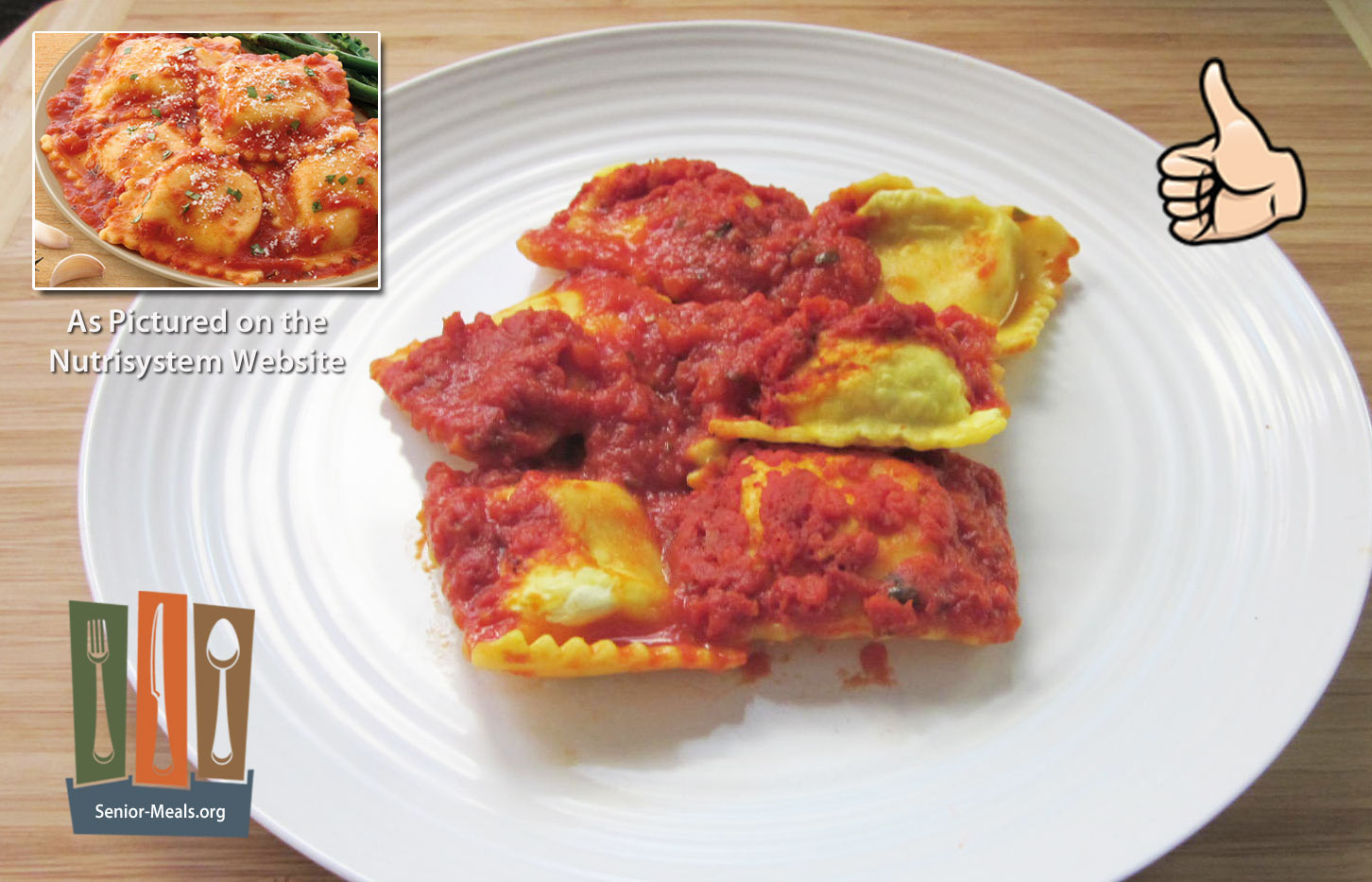 Nutrisystem review of their senior weight loss diet delivery service ravioli formaggio same as above you can make this yourself by visiting the local market but if you dont want to cook or a remote family caretaker solutioingenieria Gallery