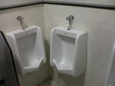 urinals installed incorrectly