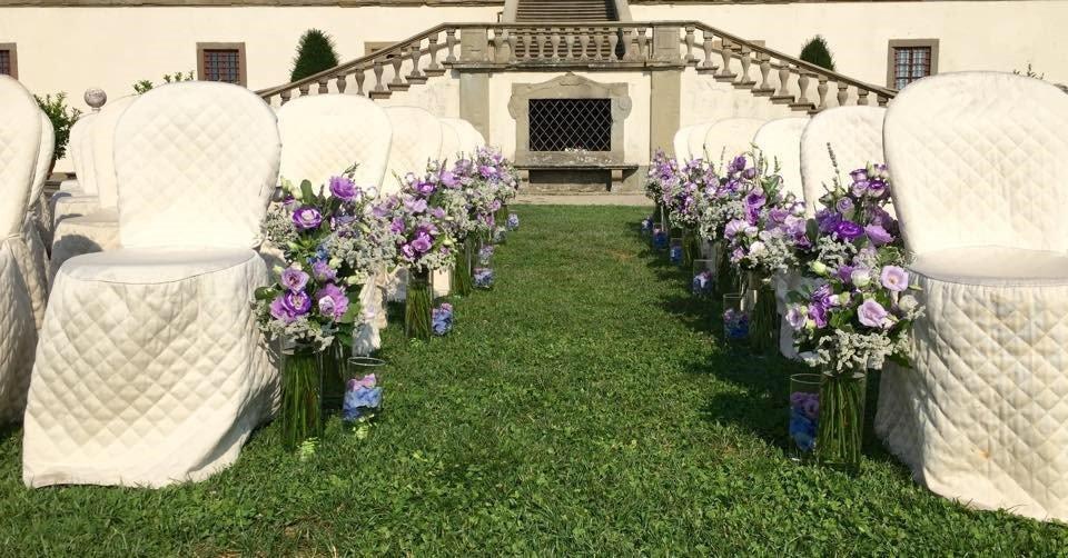 sedie fiori matrimonio