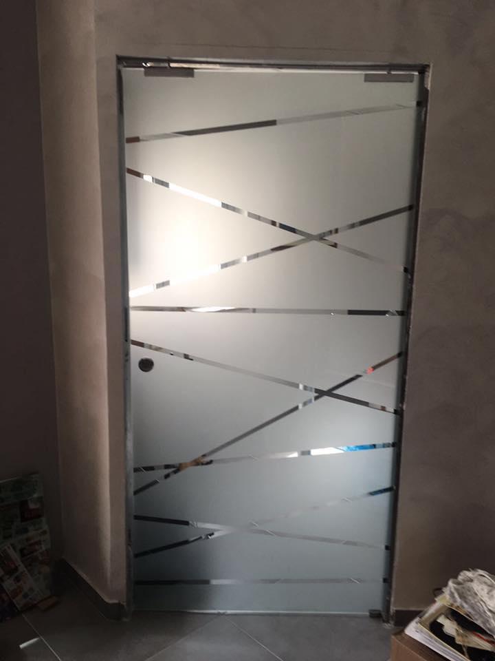 porta in vetro satinato