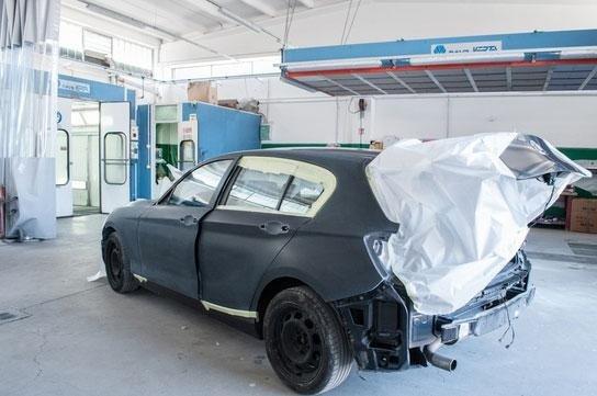 verniciatura metallizzata auto