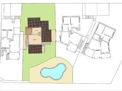 Villa con piscina mappa