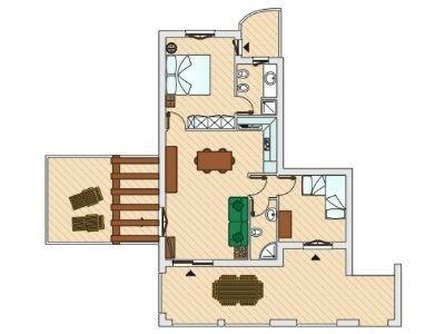 Piantina appartamento in affitto