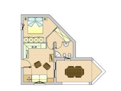 Appartamento ad angolo in affitto