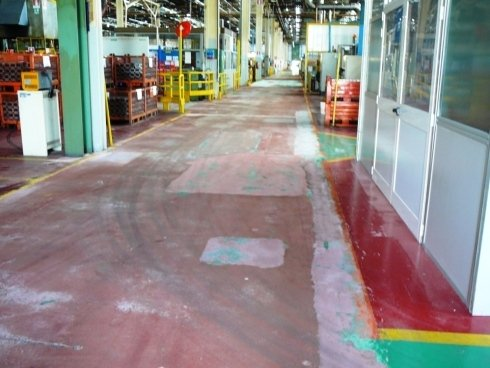 1 pavimento fresato colore esistente base  cemento