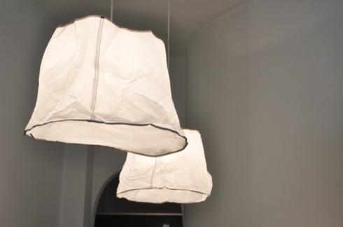 Lampadari in carta per centro relax
