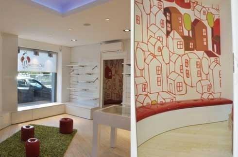 Progettazione spazi per negozio bimbi