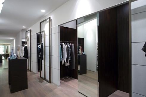 Porte scorrevoli a specchio per negozio