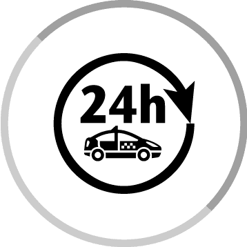 24-hour taxi service