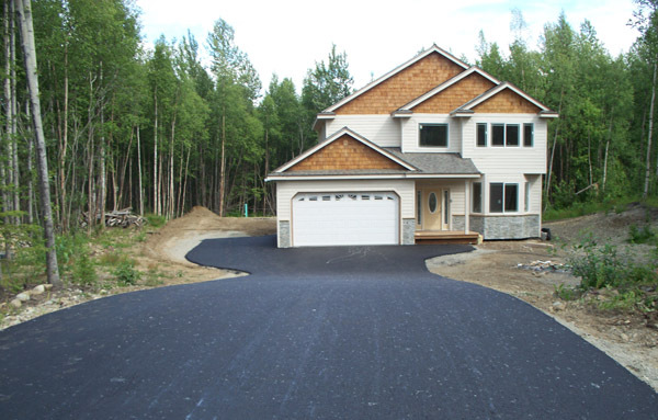 Driveway done by paving contractors in Anchorage, AK