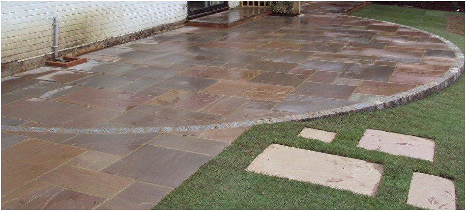 circular outdoor flooring