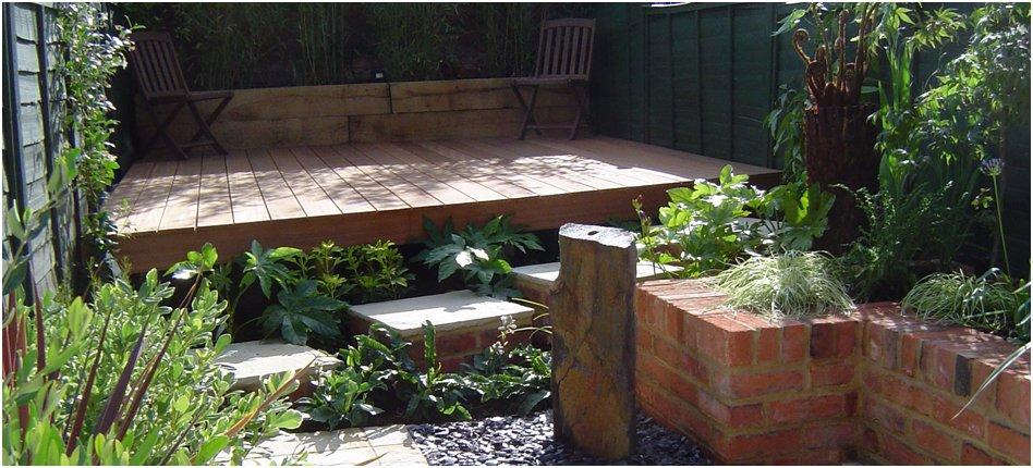 Brickwork with plants