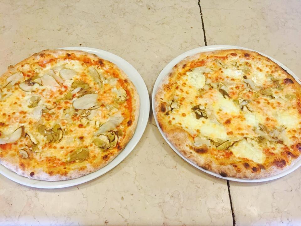 due pizze bianche al tartufo