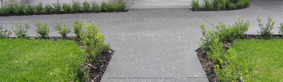custom geometrical exposed aggregate specialists